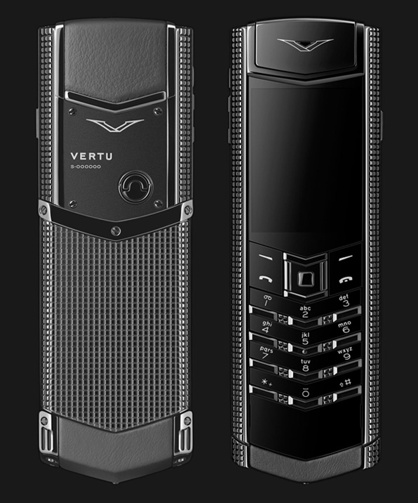 Vertu Signature S Clous de Paris Stainless Steel Black