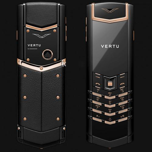 Vertu Signature S Pure Black Red Gold Mixed Metals